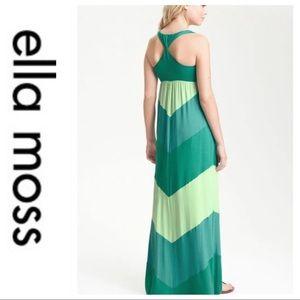 💕SALE💕Ella Moss Green Chevron Striped Maxi Dress